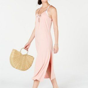 Miken Lace-up Cover-up Dress Mellow Rose